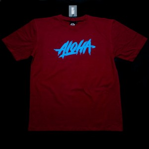 KOSZULKA ALOHA ENT. RUGGED KOLOR BORDO + GRATIS